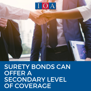 Surety bonds can offer a secondary level of coverage