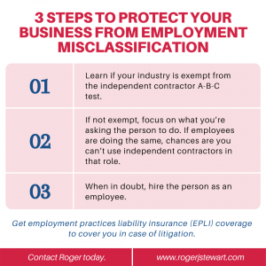 Steps to Protect Your Business from Employment Misclassification